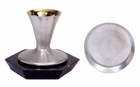 Chalice and paten, Sidsel Dorph-Jensen, 2002. Museum no. M.28