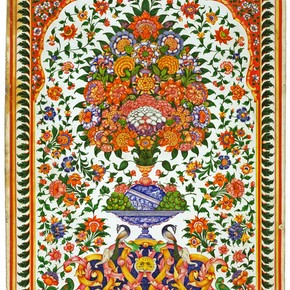 Design for a wall painting, Amritsar, about 1880. Museum no. IS 3-1998