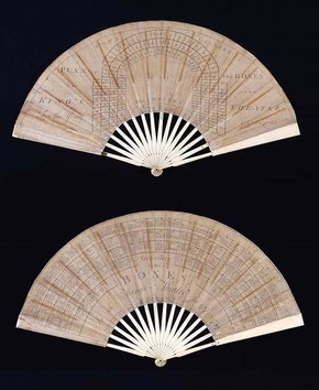 Box renter's fan, late 18th century