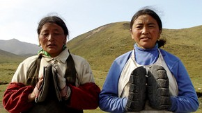 Women pilgrims. Photograph by Jim Gourley, 2004