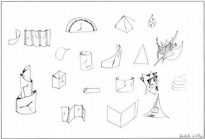 Michelle Webber, Highgate Wood School, London, 1994. Early sketches for the design of a clock.