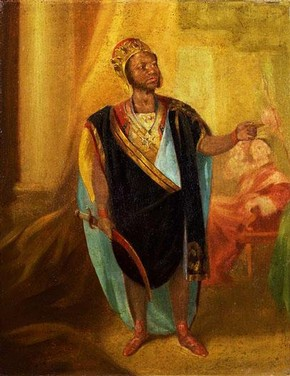 Ira Aldridge as 'Othello', artist unknown, painted around 1848
