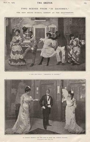 Two scenes from 'In Dahomey', The Sketch magazine, 1903