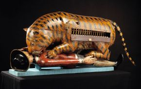 Tippoo's Tiger, mechanical organ, unknown maker, about 1793. Museum no. 2545(IS). © Victoria and Albert Museum, London.