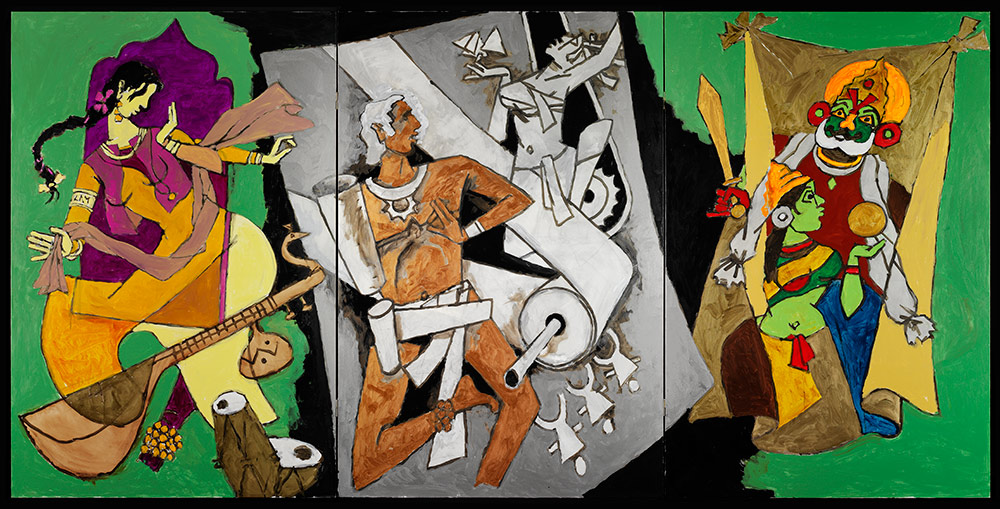 M.F. Husain, Indian Dance forms, 2008-2011. Courtesy of Usha Mittal, © Victoria and Albert Museum, London