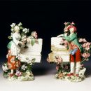 Pair of figurines, porcelain