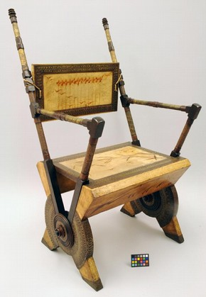 Figure 1 - Armchair after conservation treatment. Museum no. W.10-1968