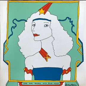 Star Girl Banded with Blue Wave, Barbara Nessim, 1966. Image courtesy of the artist