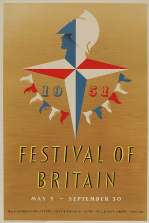 Festival of Britain poster by Abram Games, 1951. Museum no. E.308-2011