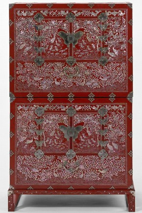 Lacquer chest, Korea, about 1890-1910. Museum no. W.47-1912