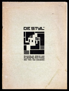 Front cover of De Stijl, periodical, edited by Theo van Doesburg, 1919. Museum no. L.3323-1981