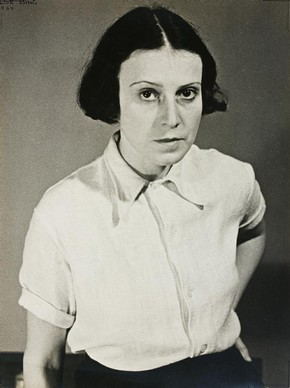Ilse Bing, 'Self-portrait', 1934. Museum no. E.3036-2004, © Estate of Ilse Bing Wolff