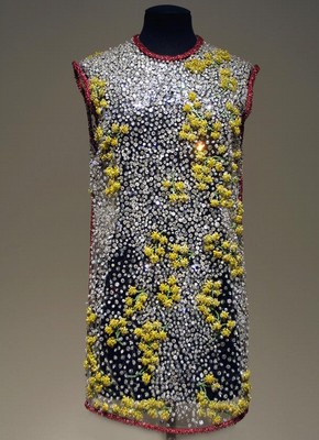 Evening dress, Autumn-Winter 1995/96, Versace, vinyl plastic with diamanté and bead embroidery