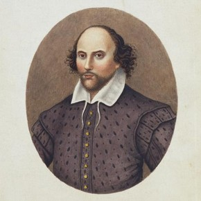 Portrait of Shakespeare (1564-1616), print of an engraving, late 18th century