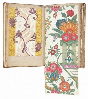 Designs for woven silk for the Leman album, James Leman. Left hand page dated 'Jan: 15 - 1711/12', E.1861.18-1991 (VS.12). Right hand page dated 'Octr: 4th 1707', E.1861.19-1991 (VS.13)