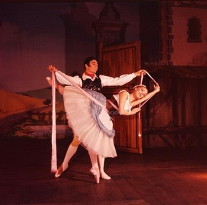 Photograph of Ashton's La Fille Mal Gardée, colour photograph by Houston Rogers for The Royal Ballet, 1960