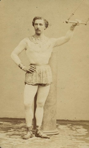 Jules Léotard with trapeze, mid 19th century
