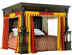 'The Great Bed of Ware', carved oak bed, probably from Ware, Hertfordshire, UK, about 1590. Museum no. W.47-1931