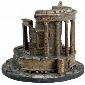 The Temple of Vesta at Tivoli, cork model, © RIBA Library Drawings Collection