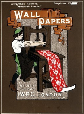 Advertisement for I.W.P.C Ltd, Bemrose & Sons Ltd, 1890-1910, colour lithograph. Museum no. E.1007-1919, © Victoria and Albert Museum, London