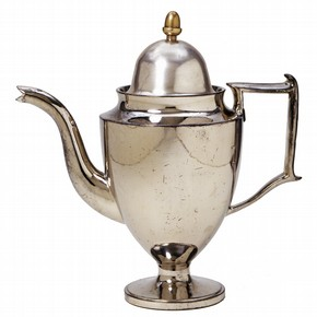 Coffee pot, Staffordshire, England, 1810-1820. Museum no. C.125&A-1909