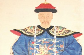 Ancestor Portrait of the Military Official General Lu Chian Kuei, Qing Dynasty, about 1755. Museum no. E.362-1956