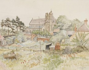 St Bartholomew's Church, Orford by Louisa Puller, 1942, Museum no. E.2140-1949