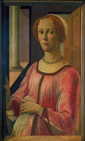 Portrait of a lady, tempera painting on panel by Sandro Botticelli, about 1470, Florence, Italy. Museum no. CAI.100
