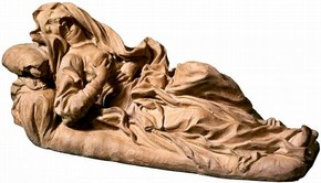 Terracotta model of the Blessed Ludovica Albertoni, Gianlornzo Bernini, Rome, Italy, 1671–4. Museum no. A.93-1980