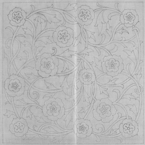 Rose design (pricked) for footstool, Morris