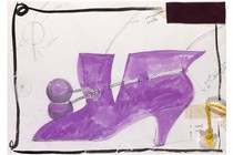 Manolo Blahnik (b.1942), design for a shoe, Britain, 1980. Museum no. E.1332-1979