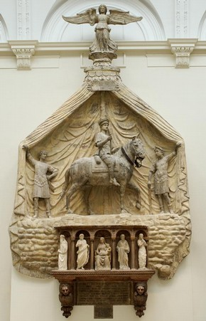 Marble monument to Marchese Spinetta Malaspina, attributed to Antonio da Firenze, Verona, Italy, about 1430-35. Museum no. 191:1-1887