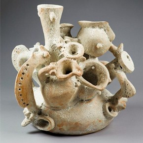 'Compression' made by Timothy Letten during his Advanced Project in Ceramics class at Westminster Adult Education Service, Amberley Road Centre