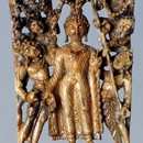 'Descent of the Buddha from Tusita Heaven' ivory Kashmir 8th century Museum no. IS.8-1978