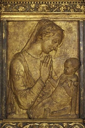 Donatello, 'Madonna and Child', about 1455. Museum no. 57-1867