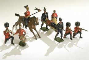 Lead toy soldiers, 1902. Museum no. Misc.39-1969