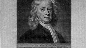 Fig.7. Mezzotint of Sir Isaac Newton, James Macardel (after Enoch Seeman). Museum no. E 1604-1948