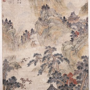'Visiting a Friend in the Mountains', China, 1550-1600. Museum no. E.422-1953