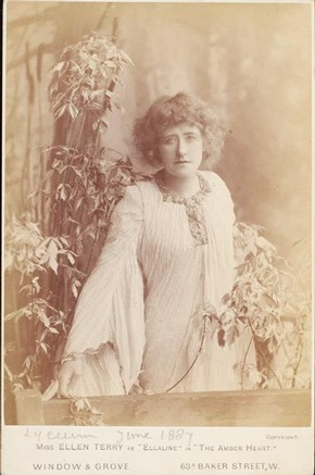 Ellen Terry as 'Ellaline' in The Amber Heart, Window and Grove, 1887
