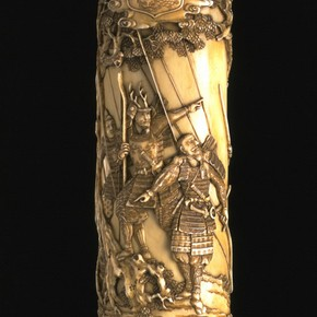 Tachi (sword), mounted in an ivory scabbard (detail). Museum no. 1708-1888
