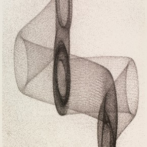 Herbert W. Franke, 'Elektronische Grafik' (detail), 1970 (original photograph 1962). Museum no. E.110-2008. Given by the Computer Arts Society, supported by System Simulation Ltd, London