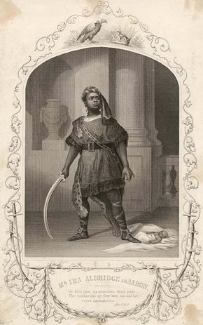 Ira Aldridge as Aaron in 'Titus Andronicus', mid 19th century