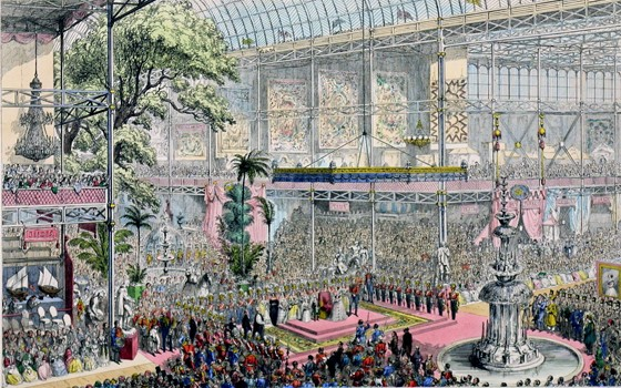 The Opening of the Great Industrial Exhibition of All Nations by George Cruikshank and David Bogue. Museum no. CIS 19648