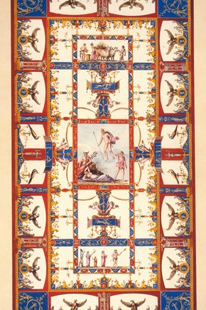 Design of the vault of the Eagle Room, Domus Aurea, by Vincenzo Brenna, about 1776. CIS 8479:20