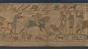 Bayeux Tapestry (Battle of Hastings, Scene 6) Showing the Death of Harold, Victorian Replica