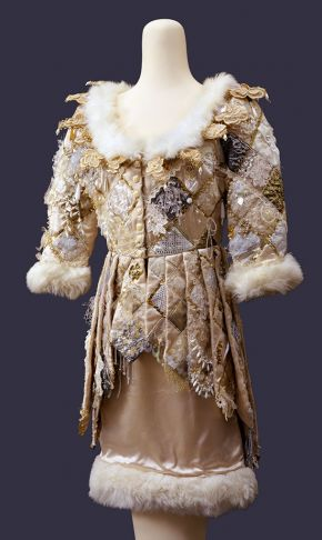Costume for Clara in Friedrich Dürrenmatt's 'The Visit', designed by Rae Smith, worn by Kathryn Hunter, Théâtre de Complicité at the Royal National Theatre, London, 1991. Museum no. S.1095-1997