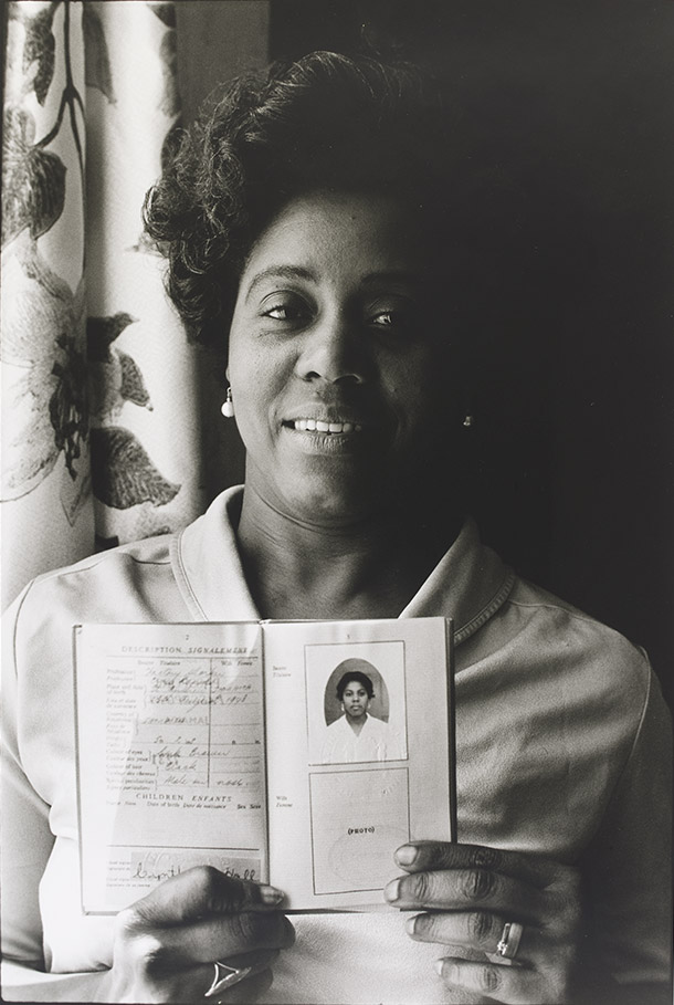 Normski, 'Cynthia M Prescod (Mum) at Home in Primrose Hill, London, 1986'. Museum no. E.108-2012. © Normski/ Victoria and Albert Museum, London. Supported by the National Lottery through the Heritage Lottery Fund.
