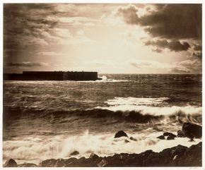 'The Great Wave', photograph by Gustave Le Gray, 1857, Albumen print from collodion-on-glass negative. Museum no. 68:004, © Victoria and Albert Museum, London