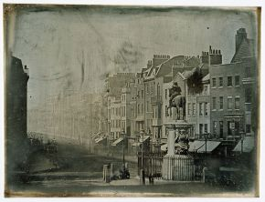 Parliament Street from Trafalgar Square, daguerreotype, Monsieur de St Croix, 1839. Museum no. PH.1-1986. © Victoria and Albert Museum, London.