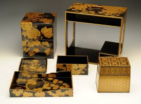Lacquered wood picnic set, Japan, 1800-1850. Museum no. W.321-1921, © Victoria and Albert Museum, London